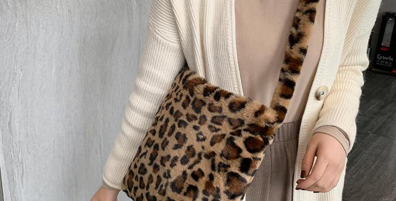 Fashion Leopard Crossbody Handbag