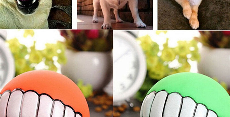 Pet Dog Ball Teeth Funny Trick Toy Silicone Toy for Dogs
