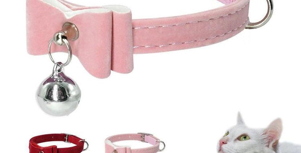 4 Colors Pet Cat Collar Safe Adjustable Bowknot Collar