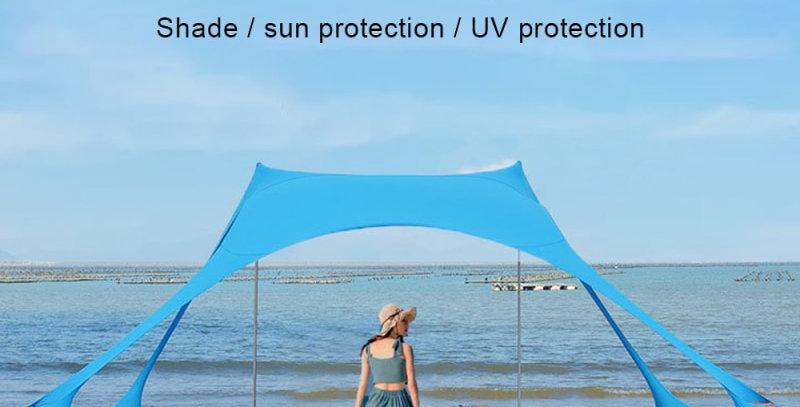 Portable Camping Pergola Outdoor Windproof Beach Tent Sunshade