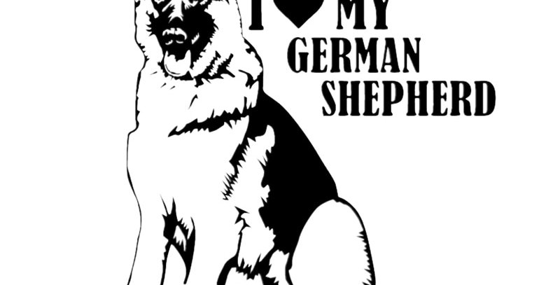 Hot Sell Personality I Love My German Shepherd Car Stickers