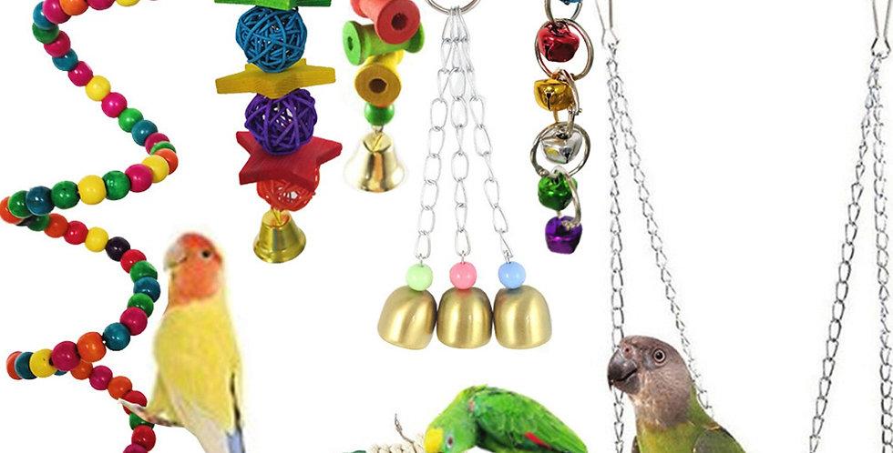 7PCS Bird Swing Chewing Toys