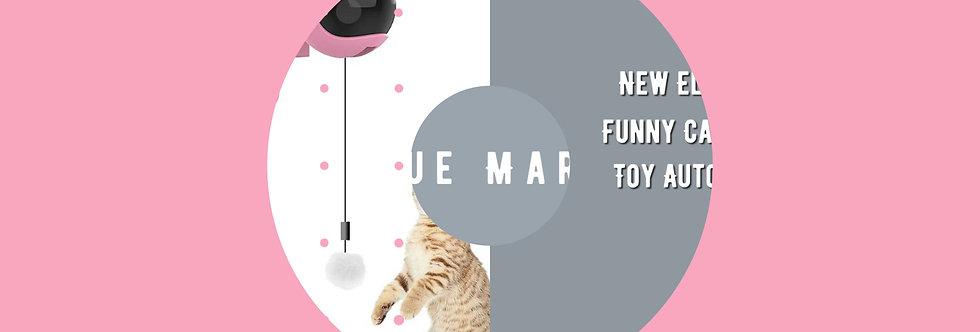 New Cat Teaser Ball Toy Automatic Lifting Spring Rod Yo-Yo