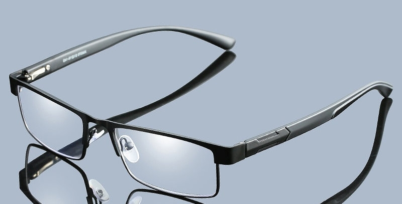 UVLAIK Men Titanium Alloy Reading Glasses Non Spherical 12 Layer Coated