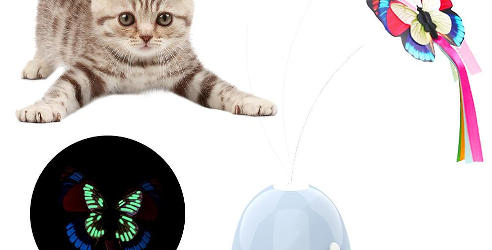 Electronic Pet Cat Toy Smart Automatic Funny Cat Exercise Toy Butterfly