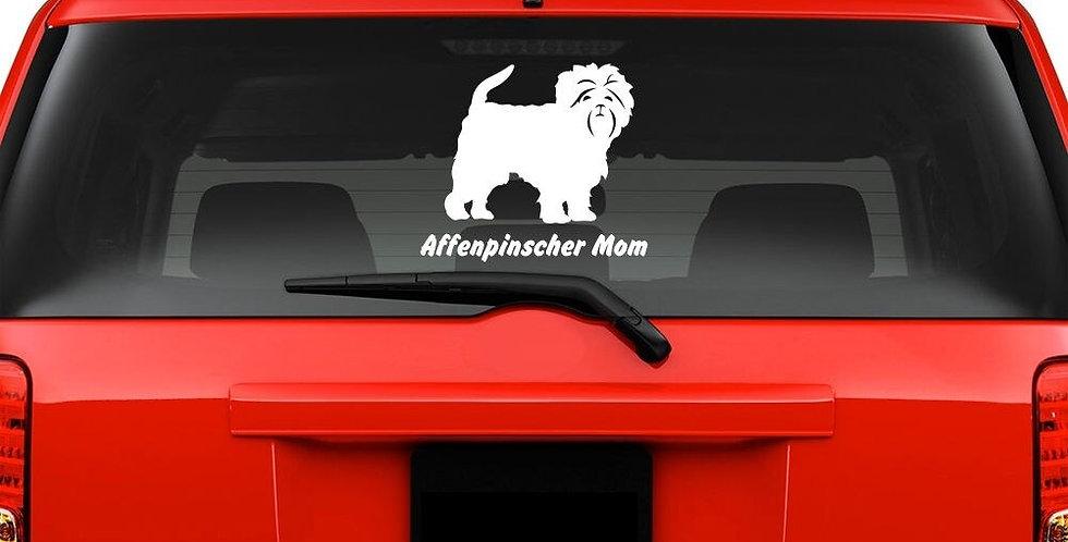 For Affenpinscher Mom Windshield Sticker Vinyl Auto Window Monkey Dog Car Decals