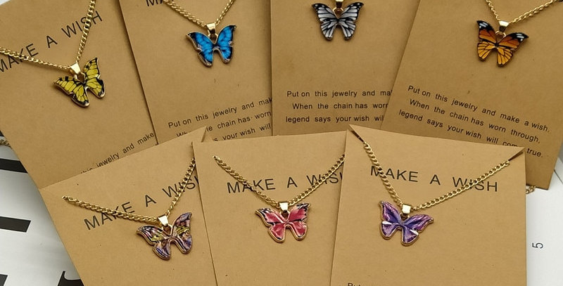 Cute Butterfly Pendant Necklace for Women