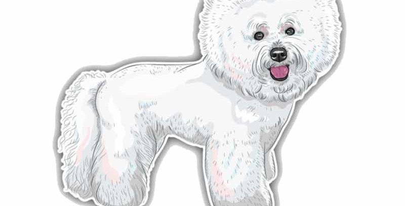 Bichon Frisse Breed Dog Car Decoration