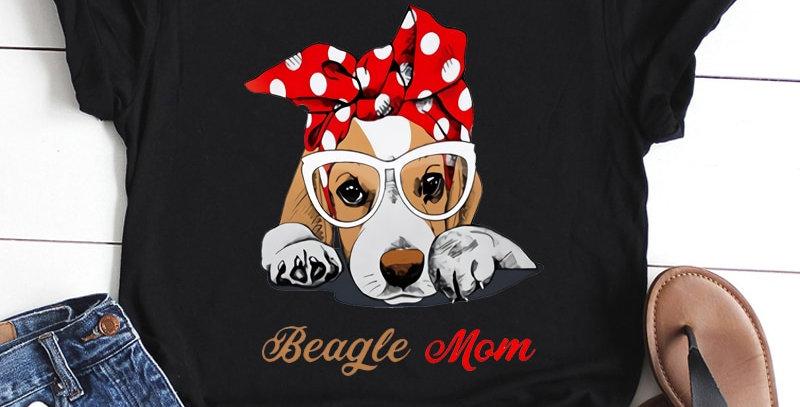 Dog Prints Black T-shirt Short Sleeved Polyester