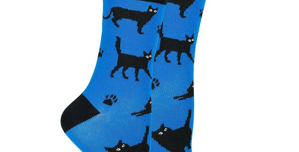 Women's Shadow Cat Socks