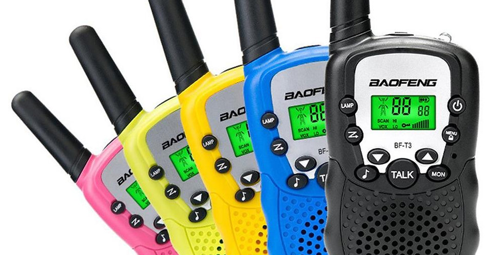 2pcs Baofeng BF-T3 Pmr446 Walkie Talkie Best Gift for Children
