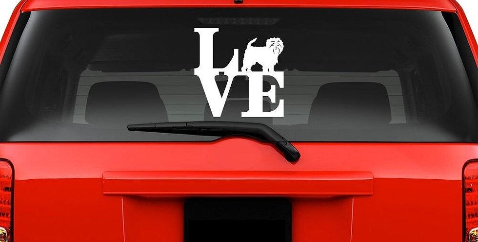 For Love Affenpinscher Windshield Sticker Vinyl