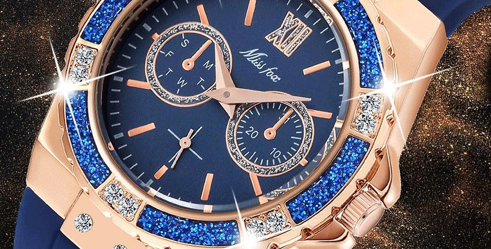 MISSFOX Women's Watches Chronograph Rose Gold Sport Watch