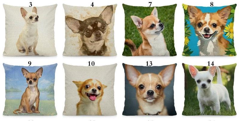 Cute Chihuahua Cushion Cover Dog Pillows Case