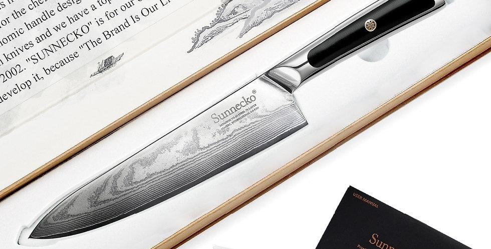 "SUNNECKO Professional 8"" Damascus Steel Chef Knife"