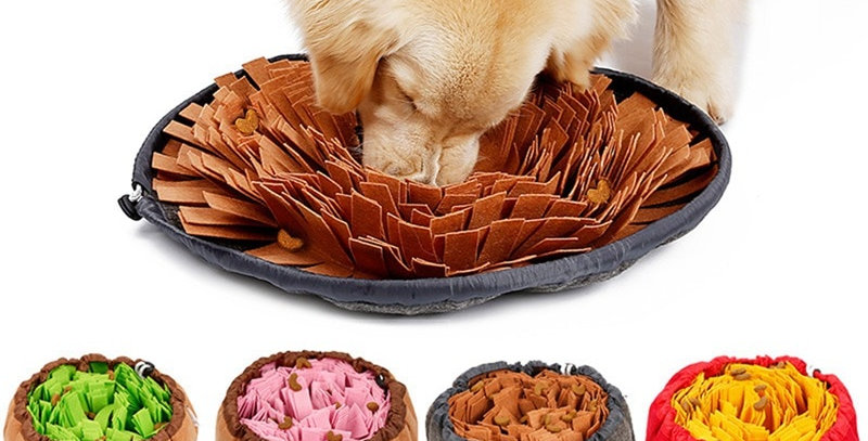 Feeding Mat Piecing Multi-Color Dog Toys