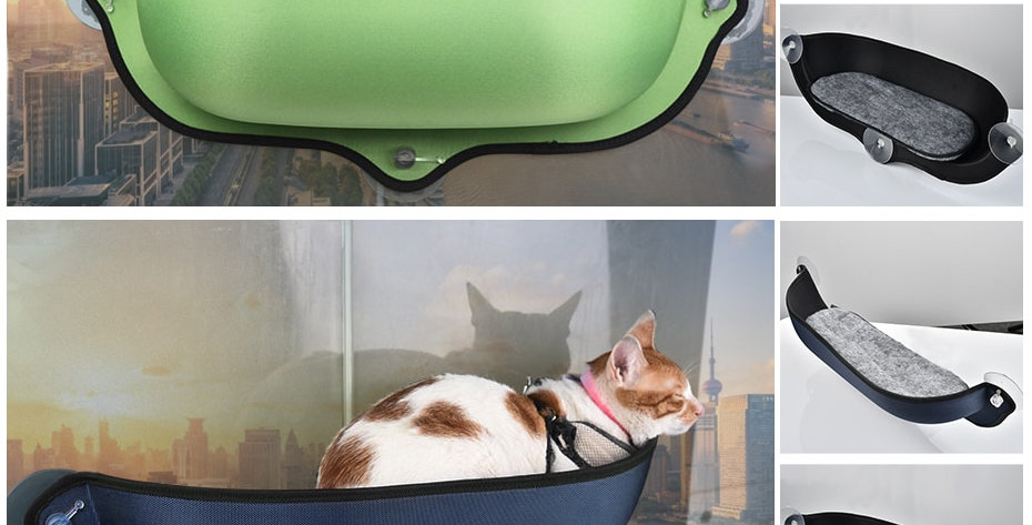 Cat Window Hammock With Strong Suction Cups Pet Kitty Hanging Sleeping Bed