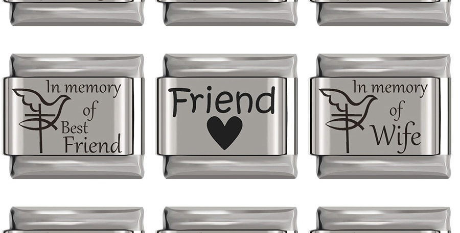 Charm Fit 9mm Bracelet  Stainless Steel Jewelry