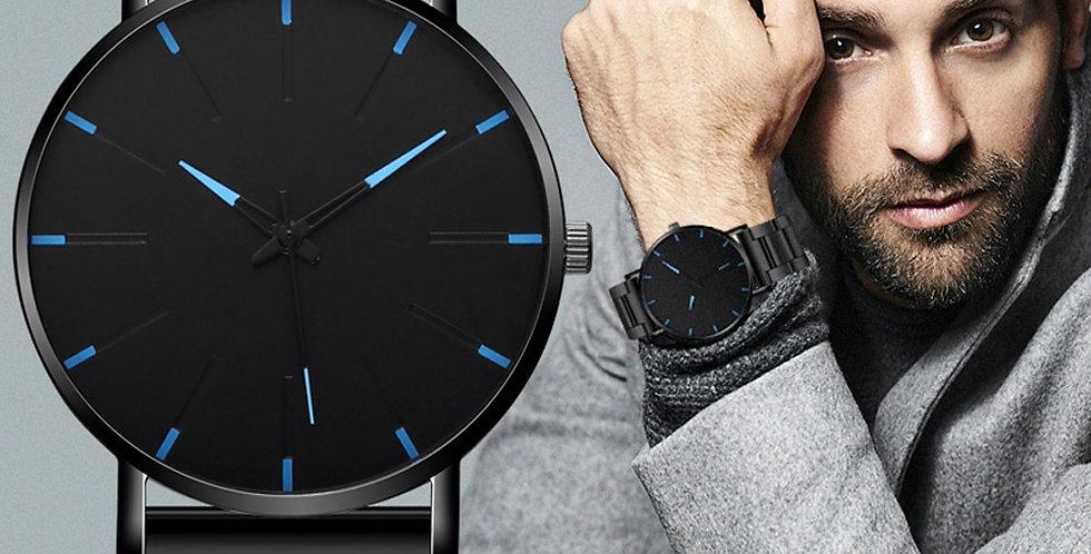 2021 Minimalist Men's Fashion Ultra Thin Watches Simple Men