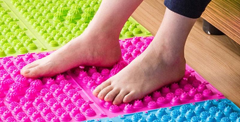 Splice Foot Massage Pad Toe Pressure Plate Blood Circulation Shiatsu Mat