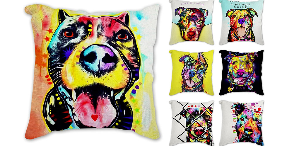 Watercolor Pillow Cover 45x45cm Decorative Cushion Cover Dog \