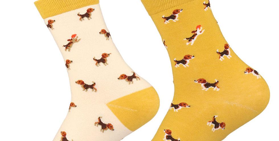 Fashion Brand Funny Unisex Couple Pet Dog Crew Socks