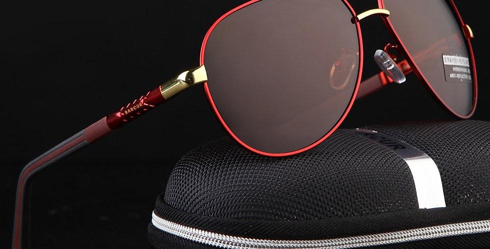 BARCUR Vintage Men's Sunglasses Men Polarized Coating Classic