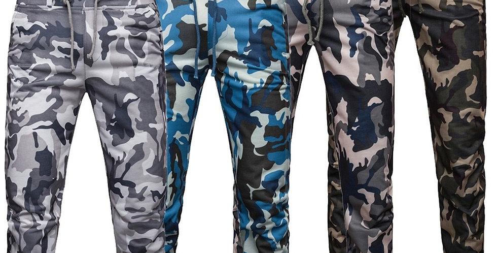 Sport Camouflage Men Joggers Sweatpants Pocket Drawstring
