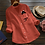 Thumbnail: Fashion Pocket Linen Cute Cat Print Blouse S-XXL