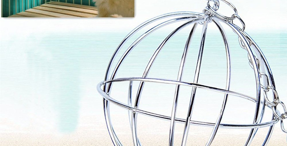 Toys Round Sphere Feed Dispense Exercise Hanging Straw Ball