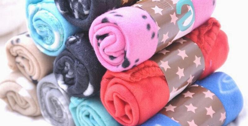 Lovely Pet Dogs Cats Bed Mat Blanket Soft Winter Warm Fleece