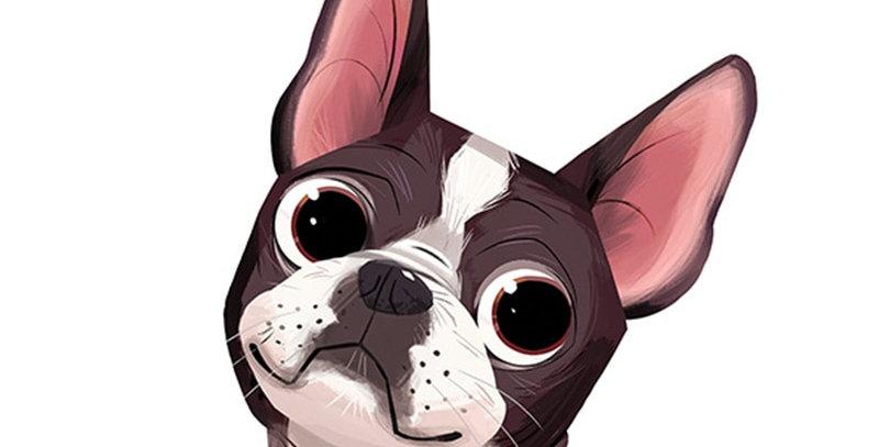 Boston Terrier Car Window Sticker