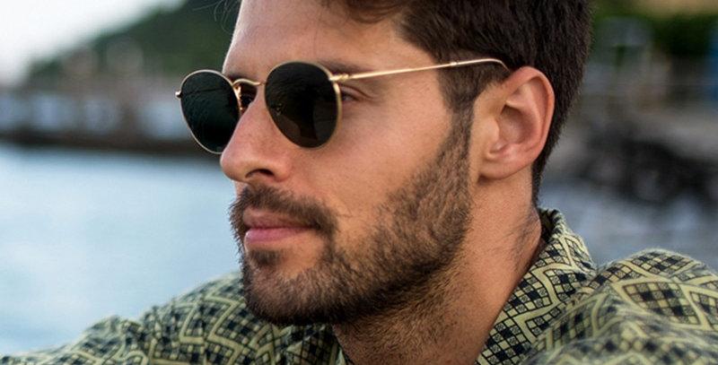 LeonLion 2021 Fashion Retro Sunglasses Men Round Vintage