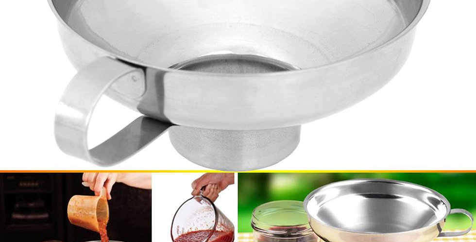 Canning Funnel Stainless Steel Wide Mouth Canning Funnel Hopper