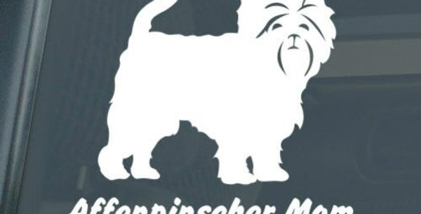 Affenpinscher Mom Sticker Die Cut Vinyl