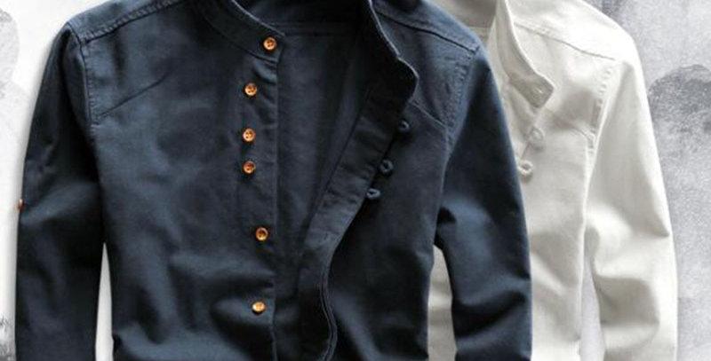 Men's Cotton Linen Shirts Long Sleeve