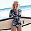 Thumbnail: Retro  One Piece Swimsuit Long Sleeve Swimwear