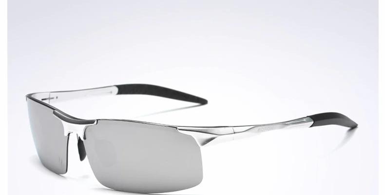 AORON Driving Polarized Sunglasses Men Aluminum Frame Sports Sun Glasses
