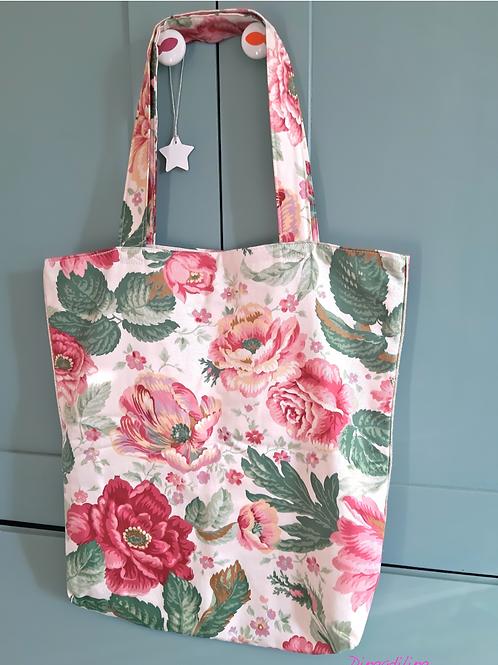 Tote bag, tissu coton upcyclé, rose, Dingadiling, les créateurs de saison Paris