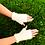 Mitaines mohair, blanc, tricoté main, De maille en fille, les créateurs de saison