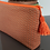 Pochette Chloé marron et pois orange, coton, Ipséité, Boutique Les Créateurs de saison, Paris