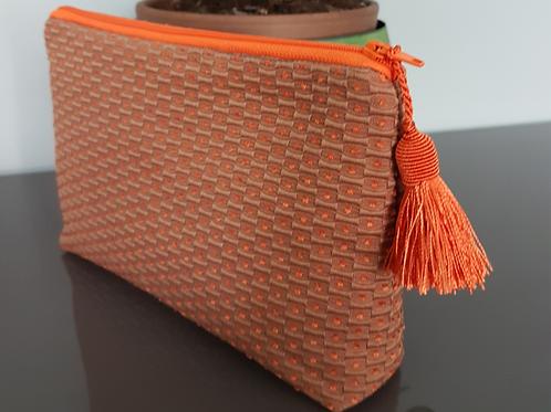 Pochette, orange, Ipséité, Boutique Les Créateurs de saison, Paris