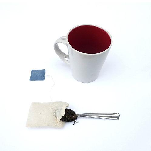 Sachet de thé bleu, tissu Bio, zéro déchet, Villa garance, les créateurs de saison Pariseurs de saison Pa