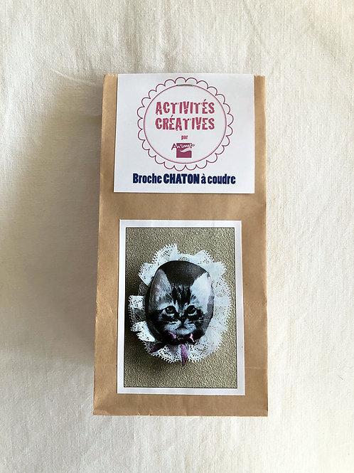 Kit broche chaton à coudre, tissu, Animato, Les créateurs de saison