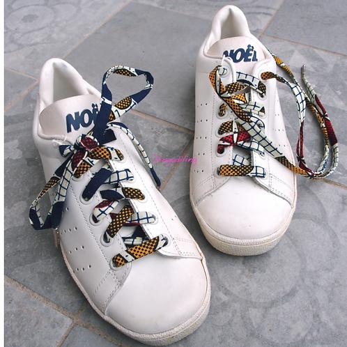 Lacets chaussures-wax-fleur-Dingadiling-les créateurs de saison