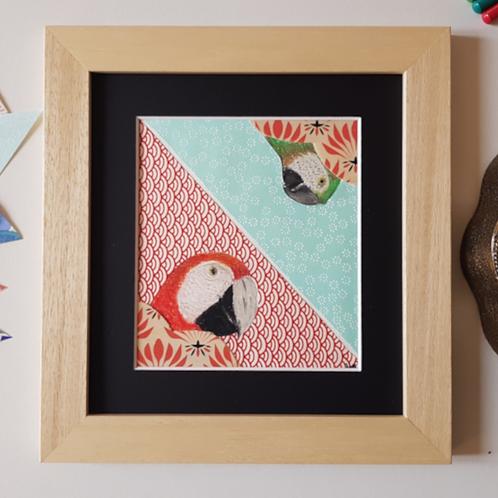 Tableau Pile ou face, papier,perroquet, Fée muguette, les créateurs de saison Paris