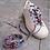 Lacet chaussure- wax-rose et bleu pâle marinière-Dingadiling-les créateurs de saison