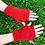 Mitaines mohair, rouge, tricoté main, De maille en fille, les créateurs de saison