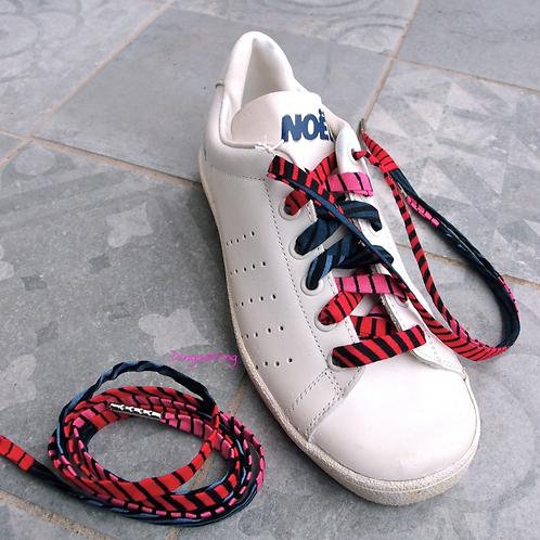 Lacet chaussure-wax-rose/gris-Dingadiling-les créateurs de saison