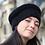 Béret, laine, mohair, noir, tricoté main, De maille en fille, Boutique Les créateurs de saison, Paris